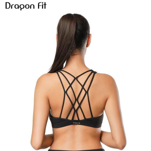 Dragon Fit Women Sports Bra For Running Gym Wire Free Shakeproof Push Up Yoga Bra Female Seamless Underwear Fitness Sport Top Apparel &