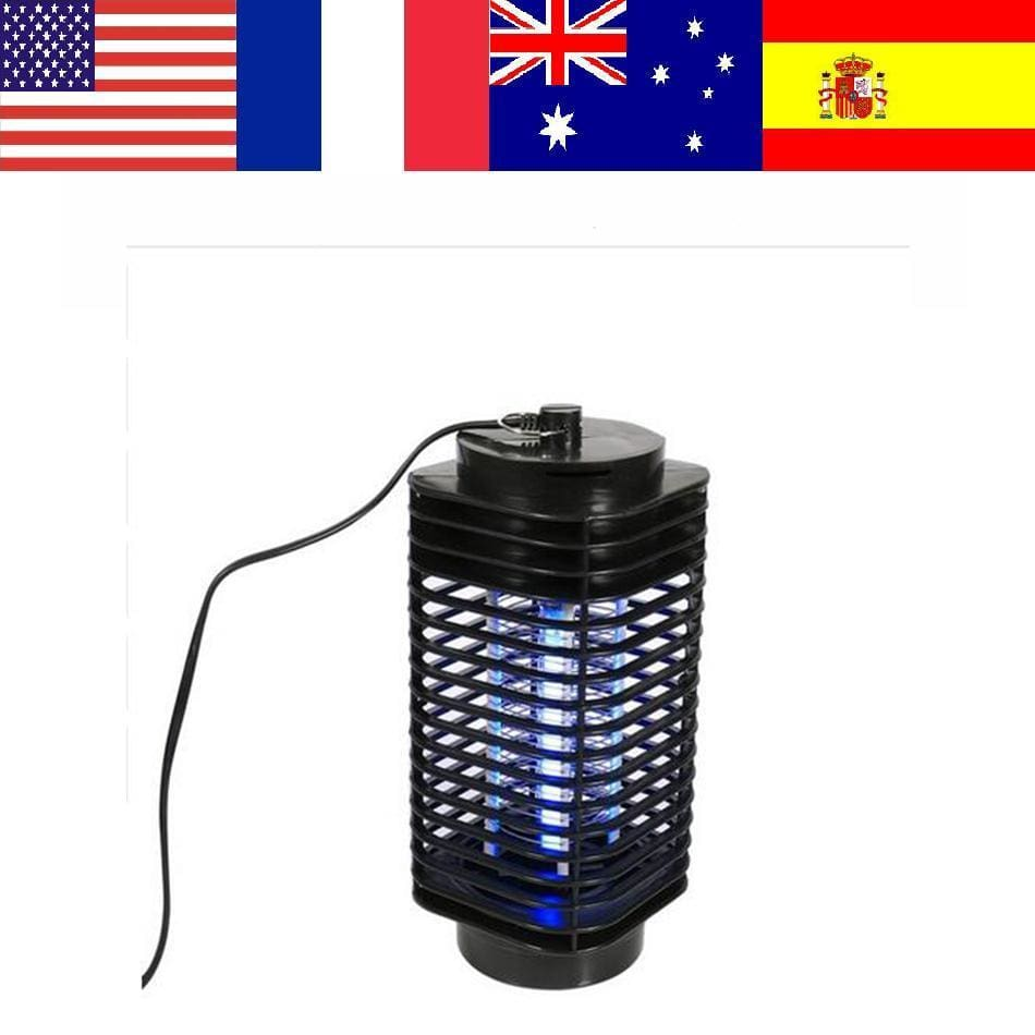 Electronics Mosquito Killer Trap Moth Fly Wasp Led Night Lamp Bug Insect Light Black Killing Pest Zapper Eu Plug Light Electronics