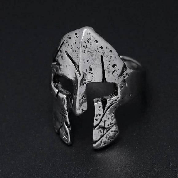 Fashion Men Spartan Hero Helmet Mask Ring Mens > Jewelry & Accessories > Rings