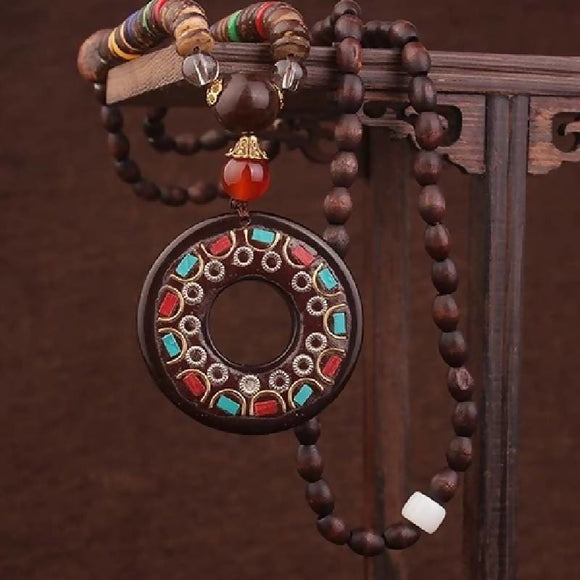 Fashion New Vintage Wood Ethnic Necklace Necklaces & Pendants