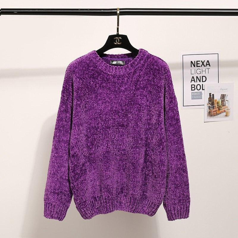b8b05ce029 ... Fashion Winter O-neck Warm Sweater Women 2018 Long Sleeve Knitted  Sweaters And Pullovers Female ...