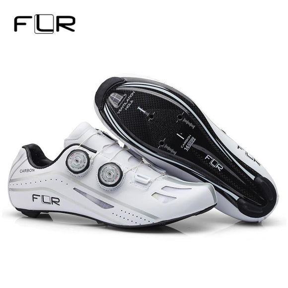 FLR Road Cycling Shoes Racing Shoes Professional Road Bike SPD Carbon Fiber Road Bike Shoes Athletic Bicycle Sports Shoes FXX-Shoes-Zodeys-Black-10-Zodeys
