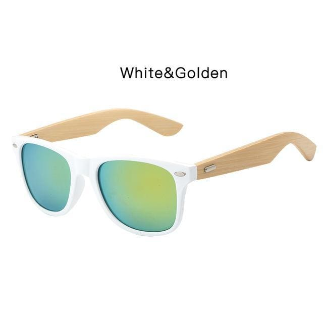 98212db11e7 Hdcrafter Bamboo Sunglasses Men Fashion Square Sunglasses Women Wooden Frame  Mirrored Sun Glasses For Men Uv400