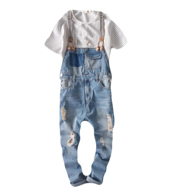 ad67dd7ae9 Hip Hop Streetwear Bib Pants Overall Jean Fashion Men Jean Overalls Ripped  Bib Jeans For Men