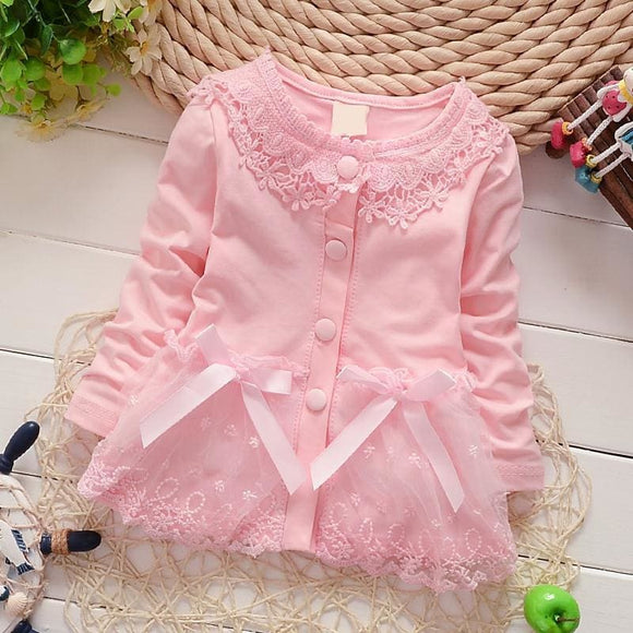 Ienens Girl Baby Clothing T-Shirt Girls Cotton Coat Jacket Children Long Sleeves Cardigan Spring Toddler Infant Cute Clothes Ienens Store