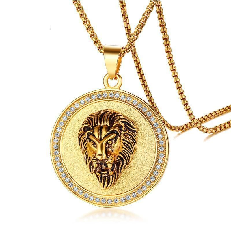 e51844e230f Ip Gold Plated Lion Head Stainless Steel Chain Necklace Apparel    Accessories   Jewelry   Necklaces