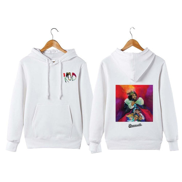 J Cole Hoodie Sweatershirt King Cole Dreamville Hip Hop Kod Pullover Hoodie Sweatershirt White / 4Xl Zodeys