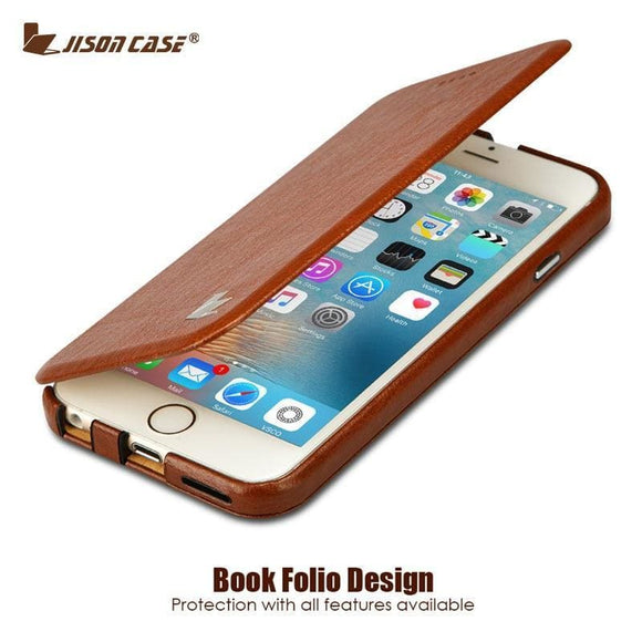Jisoncase Flip Phone Case For Iphone 6 6S Case 4.7 Inch Luxury Pu Leather Fundas Stand Case For Iphone 6 Plus 6S Plus 5.5 Cover Jisoncase