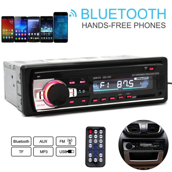 Jsd-520 12V Car Radio Bluetooth Remote Control Mp3 Audio Player Support Fm Aux Input Receiver Sd Usb Mp3 Electronics > Audio