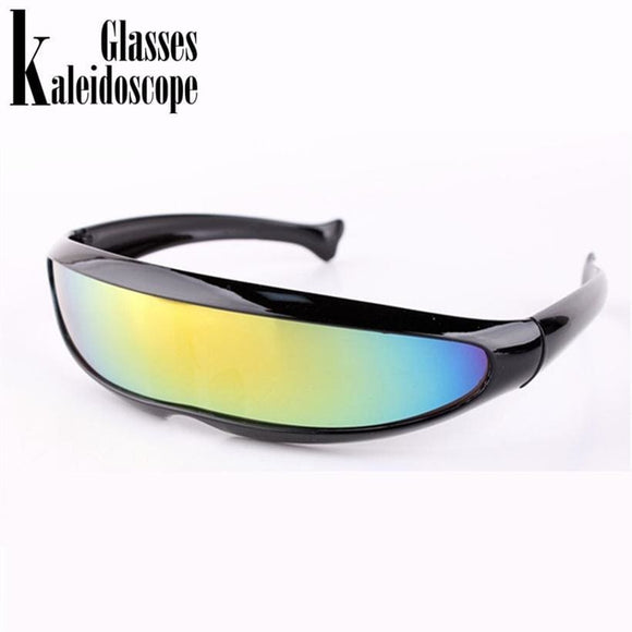 Kaleidoscope Glasses Xmen Personality Sunglasses Laser Glasses Men Women Sunglass Robots Sun Glasses Mens Driving Goggles Apparel &