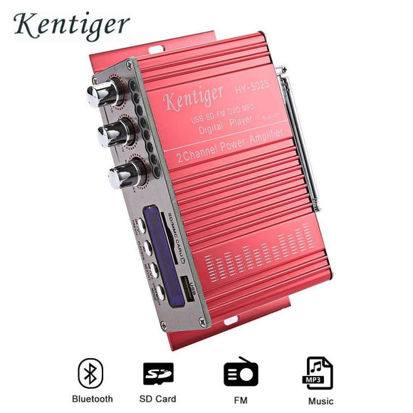 Kentiger Hy-502S 2Ch Bluetooth Amplifier Hi-Fi Super Bass Output Power Stereo Amplifier Audio Amplificador Support Usb/sd Card Electronics >