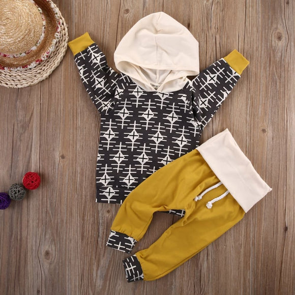 Kids Boys Clothes Baby Clothing Sets Newborn Toddler Infant Baby Boy Girl Clothes Hooded Tops+Pants Outfits Set Hey Baby Store