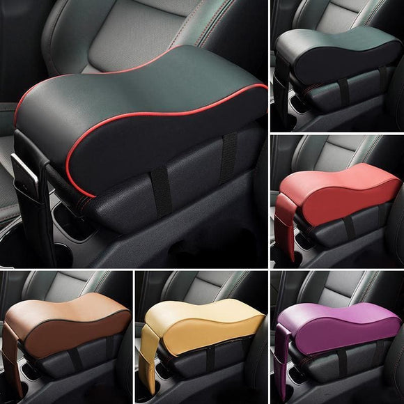 Leather Car Armrest Pad Universal Auto Armrests Car Center Console Arm Rest Seat Box Pad Vehicle Protective Car Styling Automobiles &