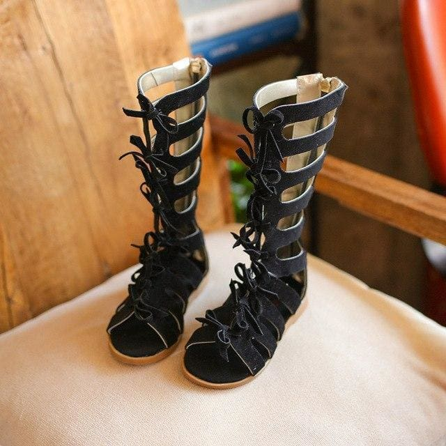 f07f5f7f5 Leather Hot Sell Summer Fashion Roman Boots High-Top Girls Sandals Kids Gladiator  Sandals Toddler Child Sandals Girls High Quality Shoes -