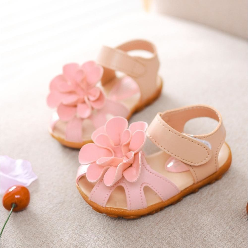 df3c4b991a7e Leather Kids Shoes 2016 Summer New Flower Princess Girls Shoes Baby Child  Toe Cap Covering Girls