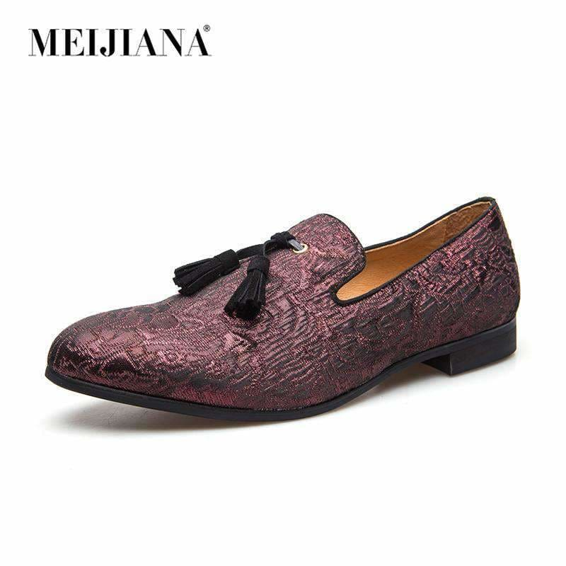 ab280d20b7179 Leather Meijiana Mens Penny Loafers Moccasin Driving Shoes Slip On Flats  Dress Shoes Meijiana Official Store