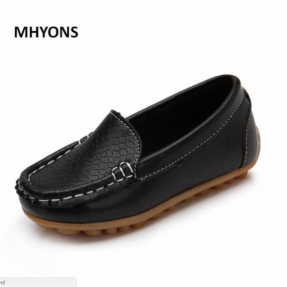 Leather Mhyons Children Boys Girl Baby Shoes Slip-On Loafers Flats Spring Autumn Fashion Boys Sneakers For Toddler/little Kid/big Kid Mhyons