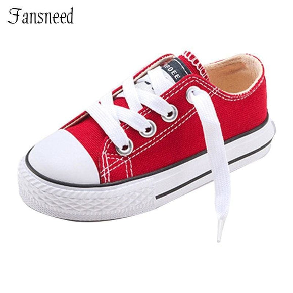 Leather New Classic Children Shoes Girls Boys Canvas Kids Sneakers Tendon Casual Shoes Solid Color Chaussures Garcon Enfant Bean Show