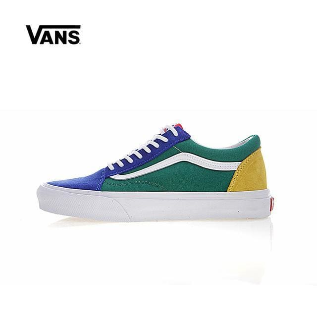 8ae4f36f60b2 Leather Original New Arrival Vans Mens   Womens Classic Old Skool Yacht  Club Low-Top