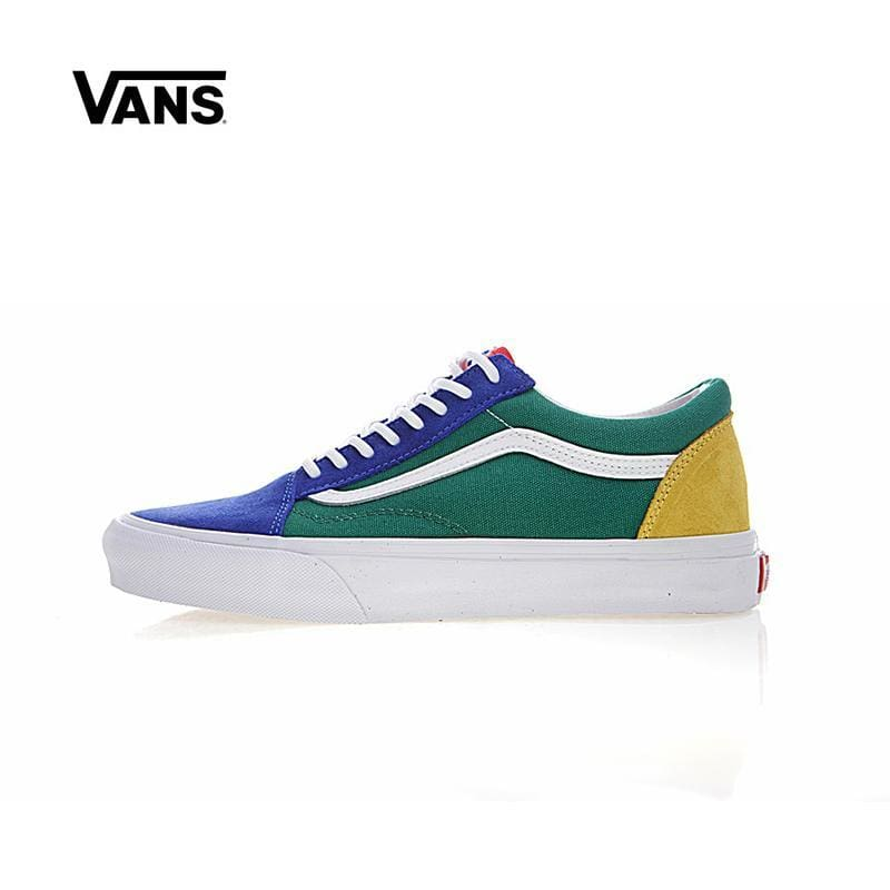 b16f386648a5 Leather Original New Arrival Vans Mens   Womens Classic Old Skool Yacht  Club Low-Top