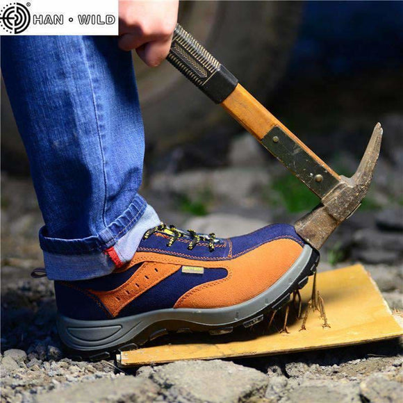 Leather Winter Men Work Safety Shoes Steel Toe Warm Breathable Mens Casual Boots Puncture Proof Labor Insurance Shoes Chun Du Factory Store