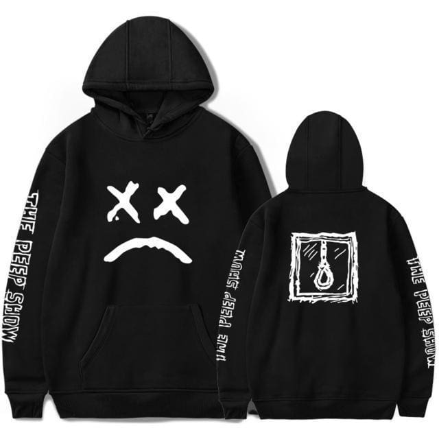 Lil Peep Hoodies Love Lil.peep Men Sweatshirts Hooded Pullover Sweatershirts /women Sudaderas Cry Baby Hood Hoddie 6646-Wy0201-Black / Xs