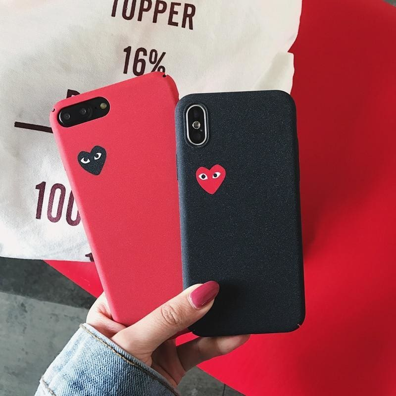 a2376895cf83ff Love Cdg Play Comme Des Garcons Hard Matte Protect Cover Case For Iphone 6  6S S