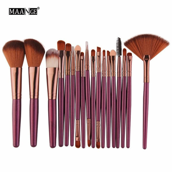 Maange 6/15/18Pcs Makeup Brushes Tool Set Cosmetic Podwer Eye Shadow Foundation Blush Blending Beauty Make Up Brush Maquiagem Maange