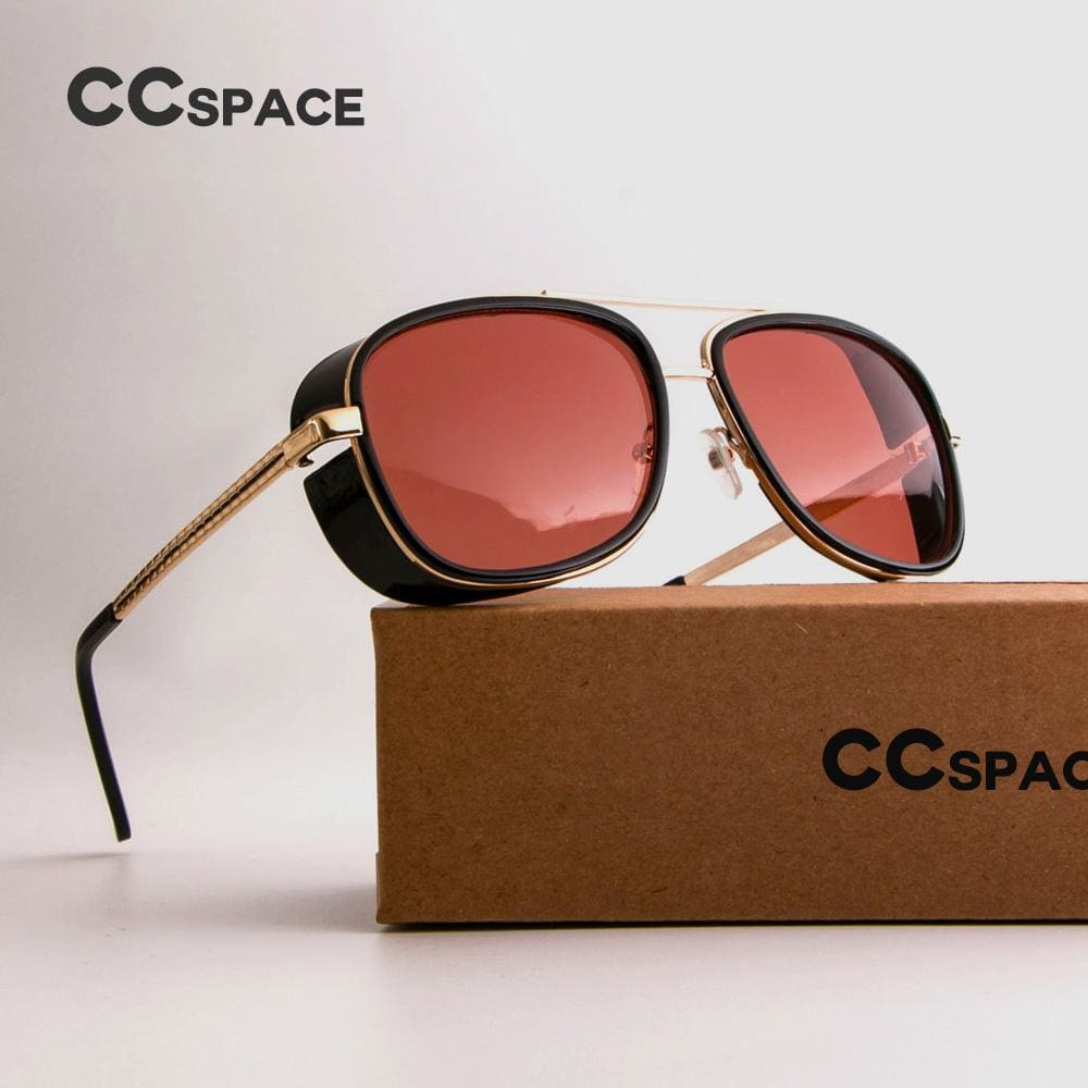 d5dc659cf6d0 Male Steampunk Sunglasses Tony Stark Iron Man Matsuda Sunglasses Retro  Vintage Eyewear Steampunk Sun Glasses Uv400