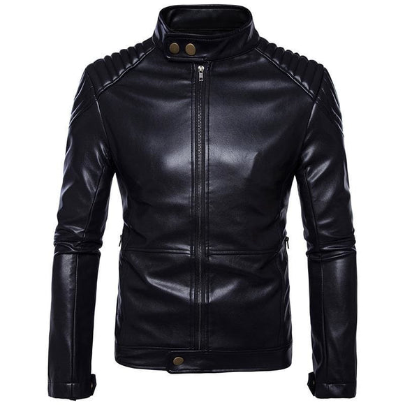Mens Amberheard Mens Jacket Fashion Spring Autumn Motorcycle High Quality Pu Leather Jackets Business Casual Coats M-5Xl Zodeys