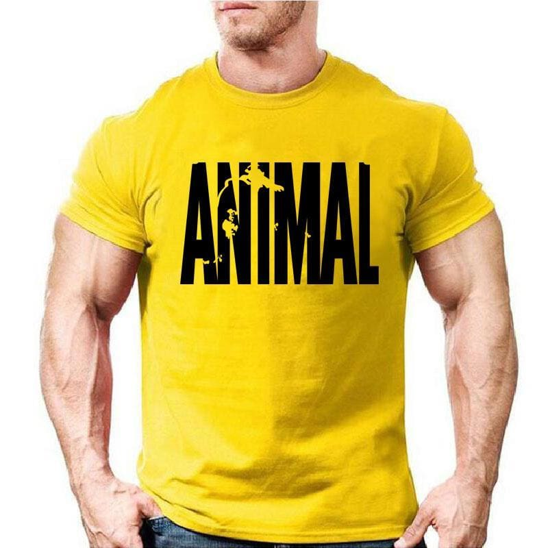 1c322e8516cd63 Mens Animal Print Tracksuit T Shirts Muscle Fitness T-Shirt Trends In  Cotton Tops Clothes