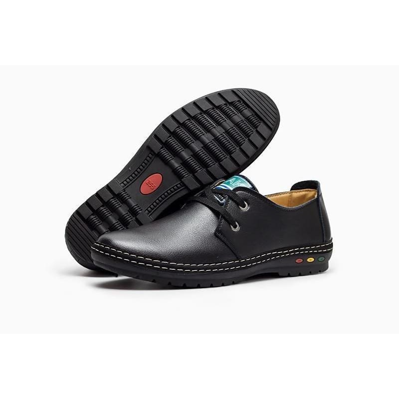 Mens Buvazik Men Soft Leather Handmade Casual Winter Loafers Black / 6½ Apparel & Accessories > Shoes