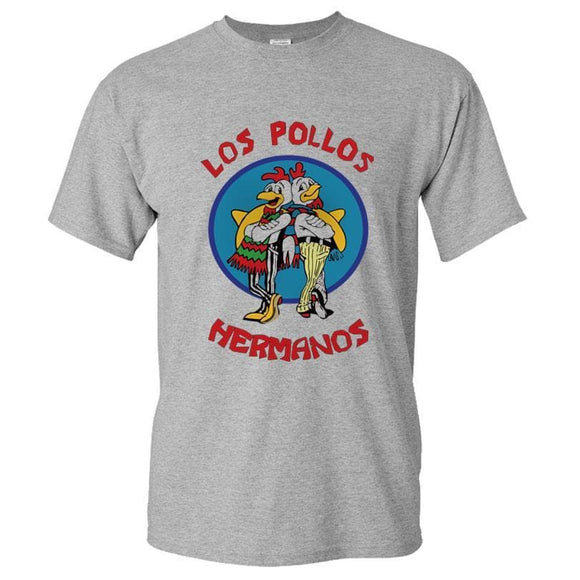 Mens Fashion Breaking Bad Shirt Los Pollos Hermanos T Shirt Chicken Brothers Short Sleeve Tee Hipster Tops Angrygoldfish 6 Store