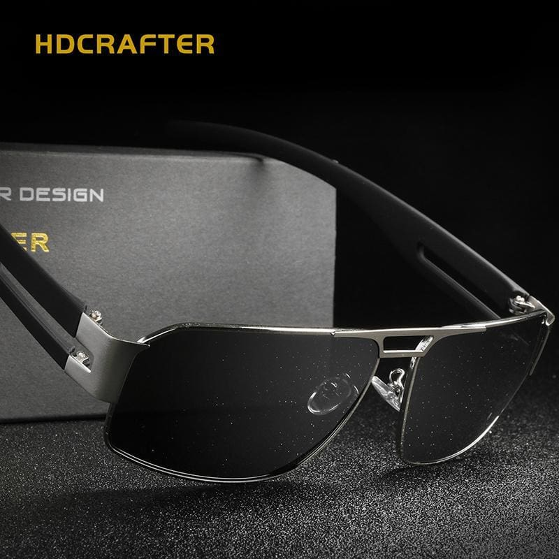 b2602a6a6bb Mens Fashion Polarized Driving Men Sunglasses Uv400 Brand Design Rectangle  Eyewear With High Quality With Apparel