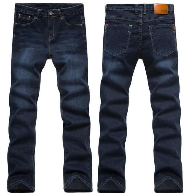 Mens Jeans Mens Casual Slim Fit Straight High Stretch Feet Skinny Jeans Mens Black Hot Sell Male Trousers 1682Black Blue / 28 Mens > Jeans