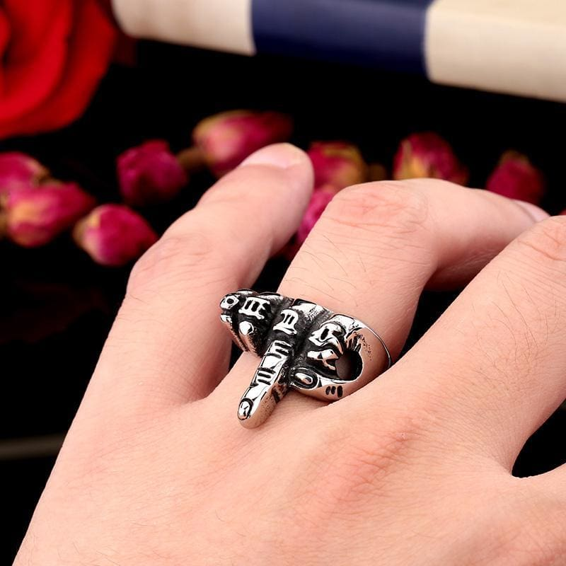 Mens Mcllroy Vintage Ring Mens Punk Style Stainless Steel 316l