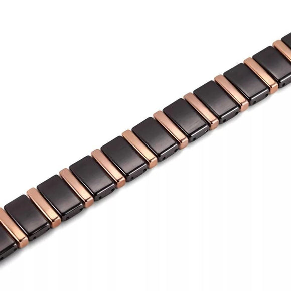 Mens Rose Gold White Tungsten Carbide Bracelets Ladeez