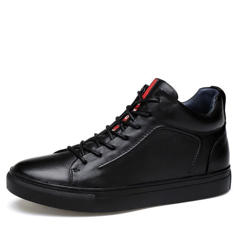 acdc60e24a2e Merkmak Genuine Leather Men Waterproof Shoes Men Casual Sneakers Fashion  Ankle Boots For Men High Top