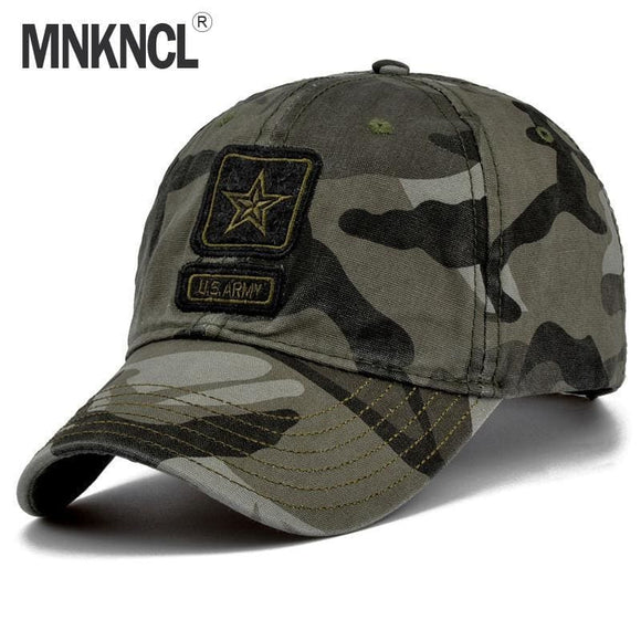Mnkncl Mens Pentagram Cap Top Quality U.s. Army Caps Mens Fishing Hat Camo Baseball Hats Bone Adjustable Zodeys
