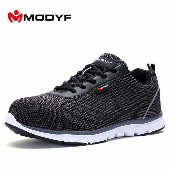 Modyf Men Safety Steel Toe Work Shoes Lightweight Breathable Casual Sneaker Apparel & Accessories > Shoes > Casual Shoes