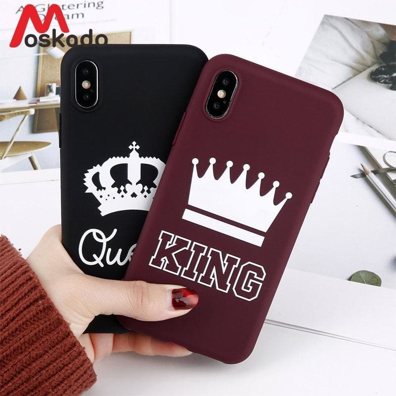 8e8270182b1a58 Moskado King Queen Crown Phone Case For Iphone Xr Xs Max X 8 7 6 6S