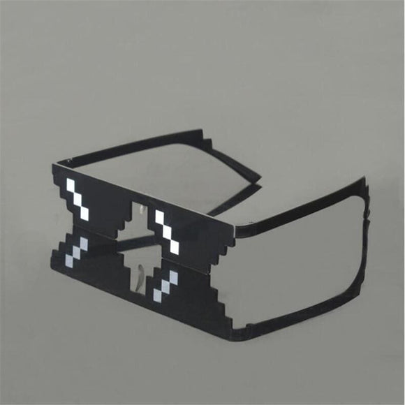 New Deal With It Glasses Thug Life Glasses Pixel Women Men Sunglasses Black Mosaic Sun Glasses Apparel & Accessories > Clothing Accessories