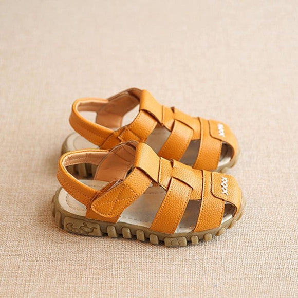 New Spring Summer Shoes Boys Soft Leather Sandals Baby Boys Summer Prewalker Soft Sole Genuine Leather Beach Sandals Csh130 May Fashion