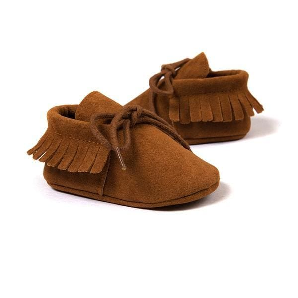 1333652c840 Newborn Baby Boy Girl Pu Suede Leather Moccasins Fringe Soft Soled Non-Slip  Footwear Shoes