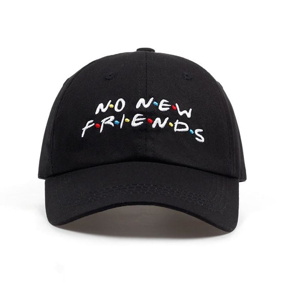 No Friends Embroidery Dad Hat Mens Womens Trending Rare Baseball Cap Snapback Hip Hop Cap Hats Zodeys