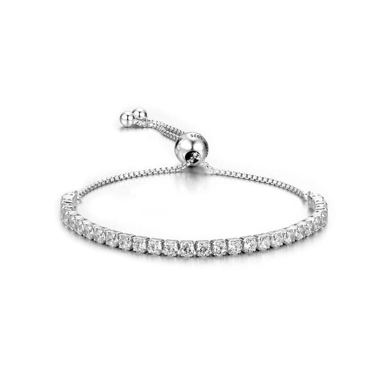 d4f089c94b3 Pdb1 Fashion Women Bracelet Sterling Silver Adjustment Bracelet With White  Stone For Gift S925 Silver Bracelet