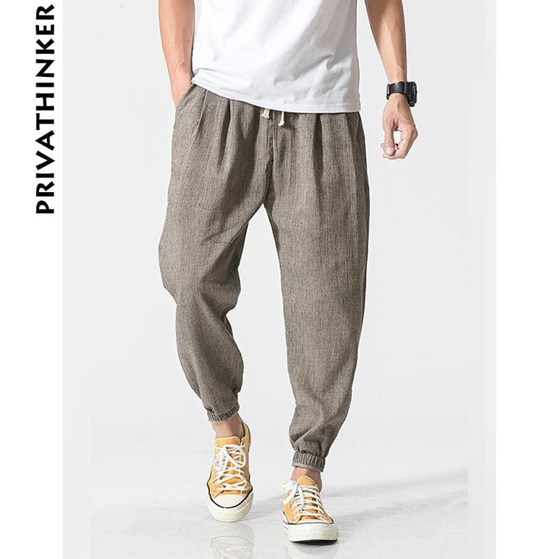5d80ee778ff5 Privathinker Brand Casual Harem Pants Men Jogger Pants Men Fitness Trousers  Male Chinese Traditional Harajuku Summer