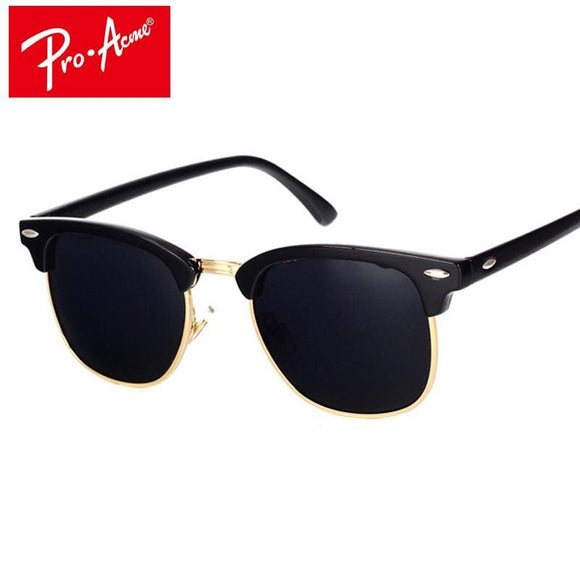 Pro Acme Classic Brand Polarized Sunglasses Men Women Half Metal Mirror Unisex Sun Glasses Gafas De Sol Uv400 Cc0832 Apparel & Accessories >