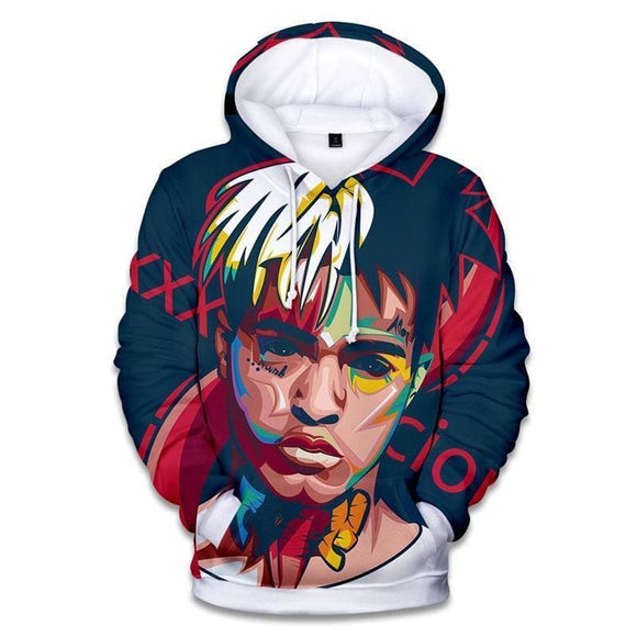 Rapper Xxx Tentacion Cotton Hoodies Sweatshirts 3D Hip Hop Singer Xxxtentacion Uniform Mens Hoodies Hip Hop Sweatshirt Think What You Think