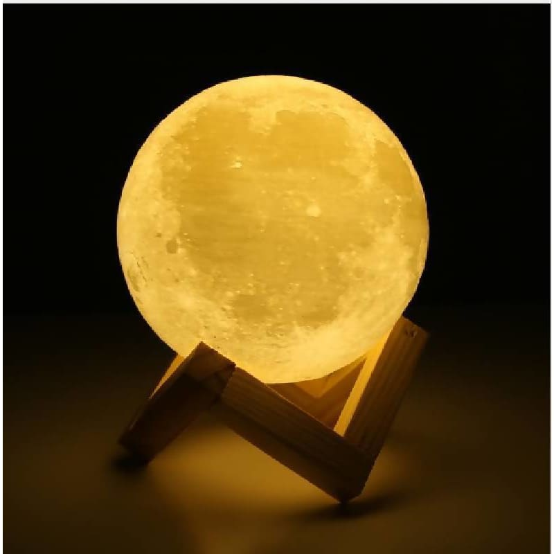 Rechargeable 3D Print Moon Lamp 2 Colors Home Decor Home & Garden > Decor